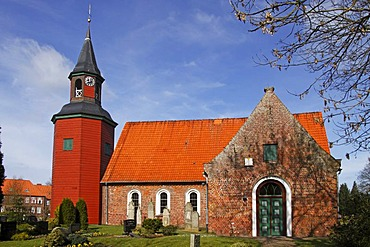 Trinitatiskirche church, historic church in Wewelsfleth, district Steinburg, Schleswig-Holstein, Germany,