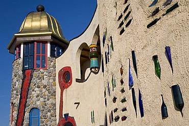 Hundertwasser-Markthalle market hall by Friedensreich Hundertwasser, Altenrhein, Lake Constance, Canton of St. Gallen, Switzerland