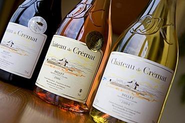 Chateau de Cremat wine bottles, sale, near St. Roman de Bellet, Nice, Cote d'Azur, France