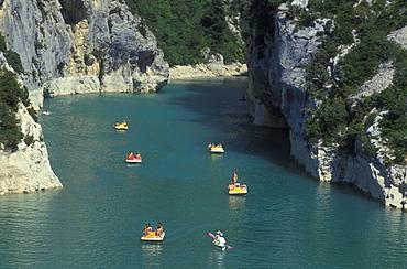 Lac de Ste. Croix, pedal boats, Grand Canyon du Verdon, Provence, France, Europe