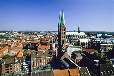 Marienkirche St Mary's Church, old part of Luebeck, Schleswig-Holstein, Germany, Europe