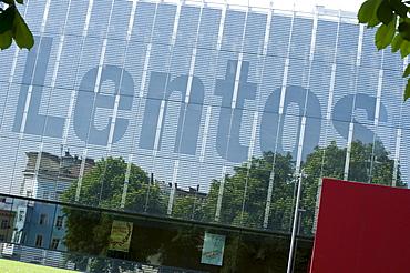 Lentos, art museum in Linz, Austria, Europe
