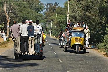 Indian auto rickshaw or tuk tuk, a three-wheeled taxi, North India, India, Asia