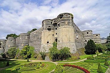 Castle, fortress, Angers, Pays de la Loire, France, Europe