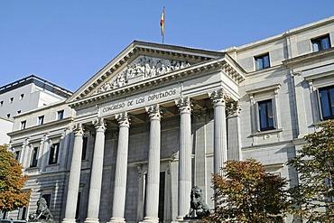 Congreso de los Diputados, congress, parliament, building, Madrid, Spain, Europe
