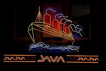 Mauretania, neon sign, pub, ship, Bristol, England, Great Britain, Europe