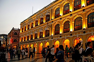 Tourism center, Largo do Senado, pedestrian zone, centre, Macau, China, Asia
