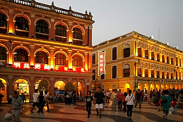 Largo do Senado, pedestrian zone, centre, Macau, China, Asia