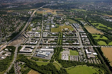 Aerial view of Dortmund Technology Park, University of Dortmund, Fraunhofer Institute, Dortmund, North Rhine-Westphalia, Germany, Europe