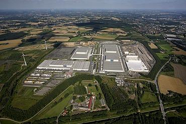 Aerial view of IKEA Logistic Centre Europe, Dortmund Ellinghausen, North Rhine-Westphalia, Germany, Europe