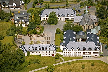 Aerial view of a Cistercian Monastery, Bochum, Ruhr Area, North Rhine-Westphalia, Germany, Europe