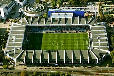 Aerial photograph, Ruhr Stadium and extension, Bochum, Ruhr Area, North Rhine-Westphalia, Germany, Europe