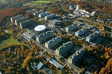 Aerial photograph, Ruhr University, Bochum, Ruhr Area, North Rhine-Westphalia, Germany, Europe