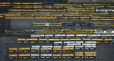 Aerial picture, EVAG Depot, Essener Verkehrs AG, Essens traffic Incorporated, Essen, Ruhr area, North Rhine-Westphalia, Germany, Europe