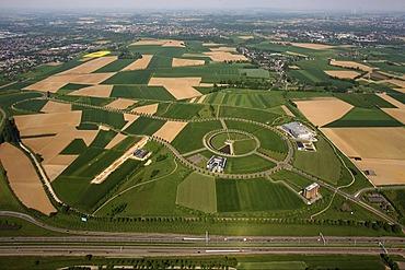 Aerial photo, AVANTIS European Science and Business Park, the first cross-border German-Dutch business park, EU region Maas-Rhine, Heerlen, Holland, Aachen, North Rhine-Westphalia, Germany, Europe