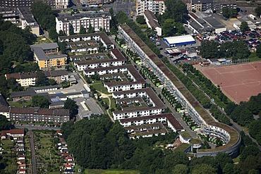 Aerial photo, CEAG estate, IBA, residential block, Muensterstrasse, Bornstrasse, Dortmund, Ruhr area, North Rhine-Westphalia, Germany, Europe