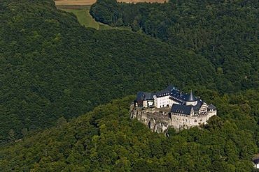 Aerial photograph, Waldeck castle, Hesse, Germany, Europe