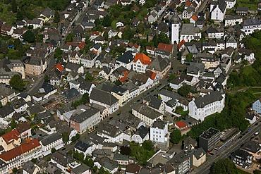 Aerial photograph, Arnsberg Steinweg, from old market to bell tower, Hochsauerland district, Arnsberg, Sauerland, North Rhine-Westphalia, Germany, Europe