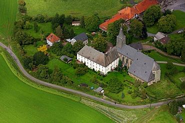 Aerial photograph, Oelinghausen Abbey, Arnsberg, Sauerland, North Rhine-Westphalia, Germany, Europe