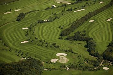 Aerial photograph, Herzkamp Golf Course in Sproeckhovel, Hasslinghausen, Bergisches Land, North Rhine-Westphalia, Germany, Europe