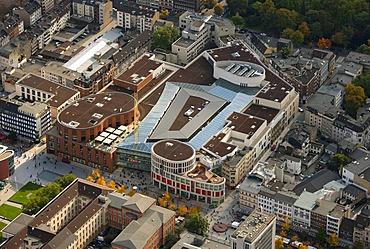 Aerial photograph, shopping centre, Karstadt, Duisburg Forum, Duisburg, Ruhr district, North Rhine-Westphalia, Germany, Europe