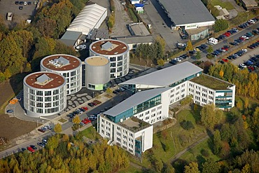 Aerial photograph, FEZ, research and development center, University of Witten Herdecke, Witten, Ruhr district, North Rhine-Westphalia, Germany, Europe