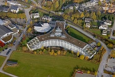 Aerial photograph, Hotel Sauerlandstern, Willingen, Sauerland, Hesse, Germany, Europe