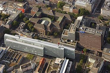 Aerial view, WDR Koeln, WDR Vierscheibenhaus, Cologne, Rhineland, North Rhine-Westphalia, Germany, Europe