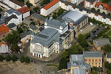 Aerial view, opera, opera house, Schwerin, Mecklenburg-Western Pomerania, Germany, Europe