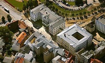Aerial view, ministry, Schwerin, Mecklenburg-Western Pomerania, Germany, Europe