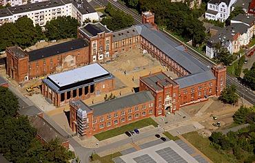 Aerial view, finance office, Statemuseum of Archaeology courtyard, Schwerin, Mecklenburg-Western Pomerania, Germany, Europe