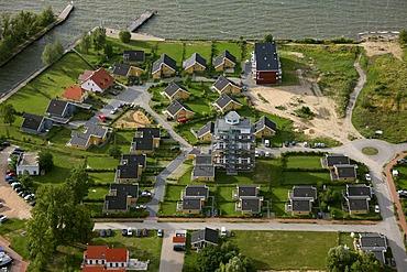 Aerial photograph, Mueritz, Marina Clas-Lake, Lake Kleine Mueritz, Mueritz National Park, Mecklenburg Lake District, Rechlin, Mecklenburg-Western Pomerania, Germany, Europe