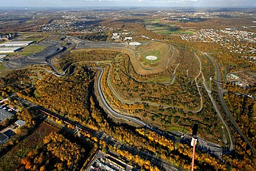 Aerial view, Halde Hoheward, slag heap, horizon observatory, Herten, North Rhine-Westphalia, Germany, Europe