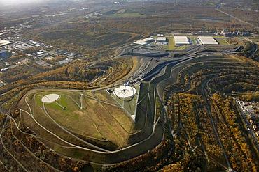 Aerial view, horizon observatory, Halde Hoheward, slag heap, Herten, North Rhine-Westphalia, Germany, Europe
