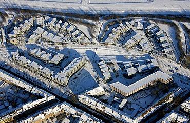Aerial photo, Kueppersbuschsiedlung residential area, Gelsenkirchen, Ruhr Area, North Rhine-Westphalia, Germany, Europe