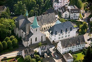 Aerial photo, Kloster Wedinghausen monastery with glass house, Arnsberg, Sauerland, Hochsauerlandkreis, North Rhine-Westphalia, Germany, Europe