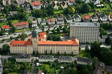 Aerial photo, regional government building, Arnsberg, Sauerland, Hochsauerlandkreis, North Rhine-Westphalia, Germany, Europe