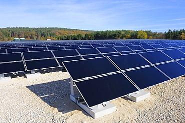 Solar plant, Filderstadt, Baden-Wuerttemberg, Germany, Europe