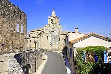 Notre-Dame church, Venasque, Vaucluse, Provence-Alpes-Cote d'Azur, Southern France, Europe