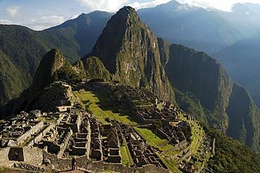 Classic view of Machu Picchu, Peru, South America