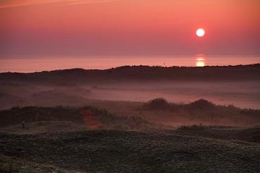 Sunrise on Texel, Holland, Netherlands, Europe