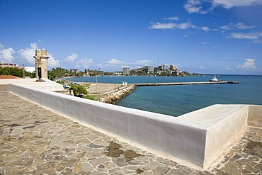 "The fort of ""Castillo de San Carlos Borromeo"", Spanish military architecture, Pampatar, Margarita Island, Caribbean, Venezuela, South America"