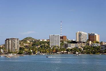 Apartment blocks by the sea, Margarita Island, Caribbean, Venezuela, South America