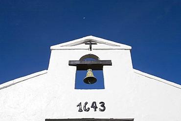 Bell tower of Los Frailes monastery hotel, Santo Domingo, High Andes, Venezuela, South America