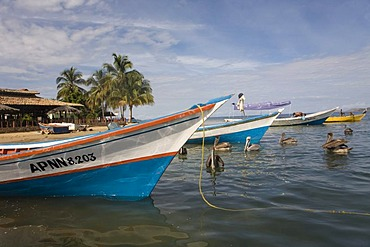 Fishing boats, Santa Fe, Caribbean, Venezula, South America