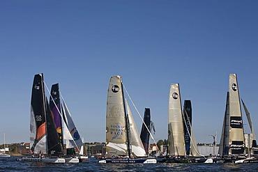 Catamarans in the iShares Cup 2008, Kiel, Baltic Sea, Northern Germany, Europe