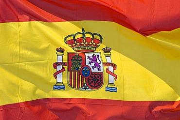 Fluttering flag, Spain