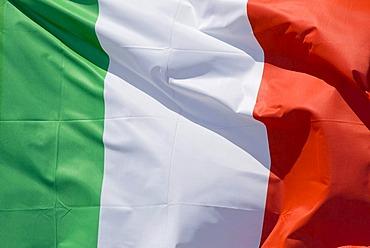 Fluttering flag, Italy