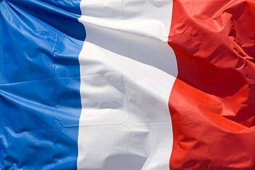 Fluttering flag, France