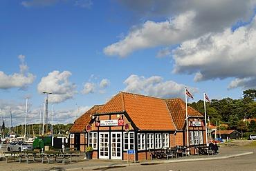 House at the harbor, Mariager, Jutland, Denmark, Europe